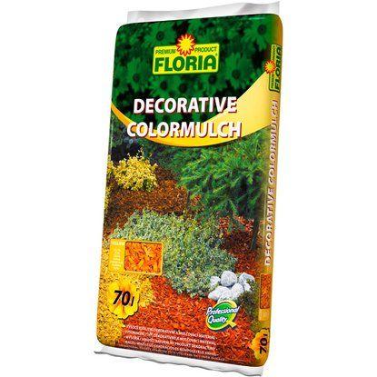 Floria Mulčovací kůra Decorative colormulch žlutá 70 l