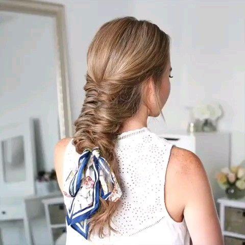 #diy #frisur #hairstylesdiy #tutorial #video Sehen Sie sich dieses DIY-Tutorial für süße Frisuren an