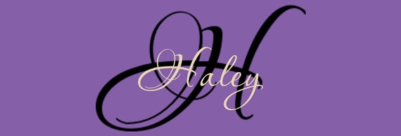 Personalized Name with Monogram Vinyl by FancyWallStickers on Etsy, $15.99