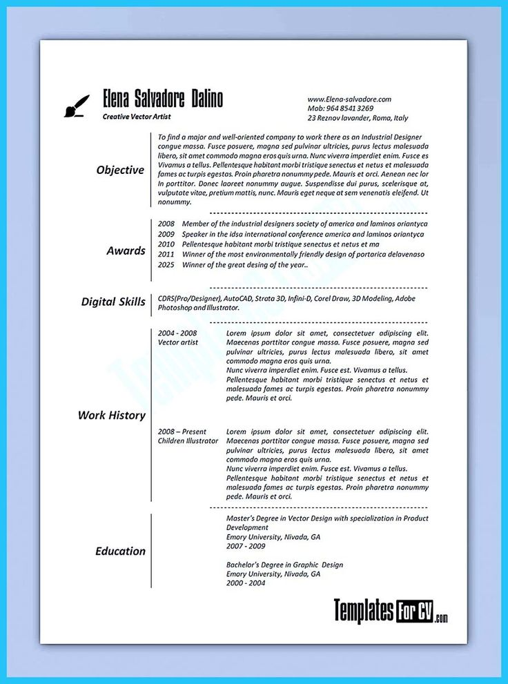 Art Resume Template Art Resume Template Best Resume Example Art