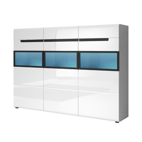 53 best Weiße Hochglanz Sideboards images on Pinterest Cabinets - sideboard f r wohnzimmer