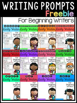 FREE 20 Writing Pages!! This pack is great for beginning writers or struggling writers in kindergarten and in first grade to build confidence in writing.Check out the full packet here:GROWING BUNDLE Daily Writing for Beginning Writers This FREE Daily Writing Journal includes the following:*10 Journal prompts with illustrated word bank to help spell words they might use in their writing.*10 of the same prompts without starter phrase for more advance writers.