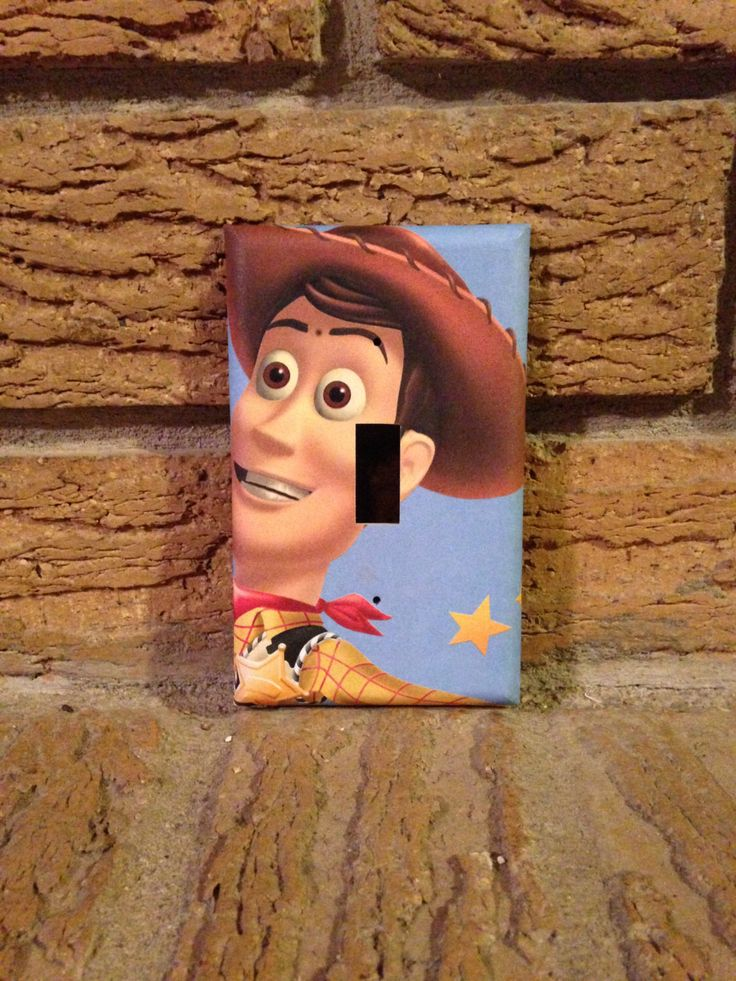 Woody Light Switch Cover Toy Story, Toy Story Woody, Toy Story Nursery, Toy Story Decoration, Toy Story Buzz by Hippiemysticstudio on Etsy https://www.etsy.com/listing/185317198/woody-light-switch-cover-toy-story-toy