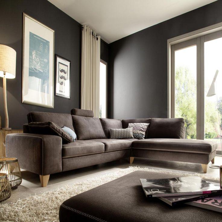 Das Ecksofa Steinker Ist Mit Seinen Kontrastnhten Ein Echter Hingucker Wohnzimmer