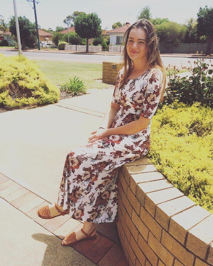 Jamie-Leigh in our Michelle maxi dress on another gorgeous summer day in Australia. Suits you perfectly Jamie-Leigh!