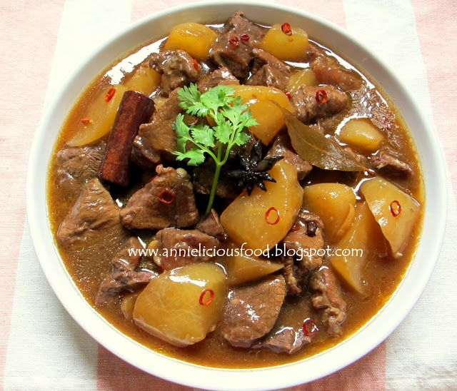 Annielicious Food: Asian Style Beef Stew with Radish
