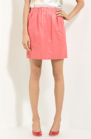 MARC JACOBS Leather Skirt available at Nordstrom. I think I need this <3