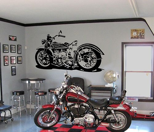 Indian Motorcycle Wall Sticker Urban Art Graffiti Decor Cool Motorbike Bike  Usa | Wall Sticker