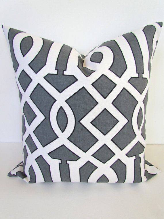 Throw Pillow Covers 26x26 : Sale PILLOW COVER 22x22 24x24 GRAY Throw Pillow Covers 26x26 Euro Shams Grey Decorative Throw ...