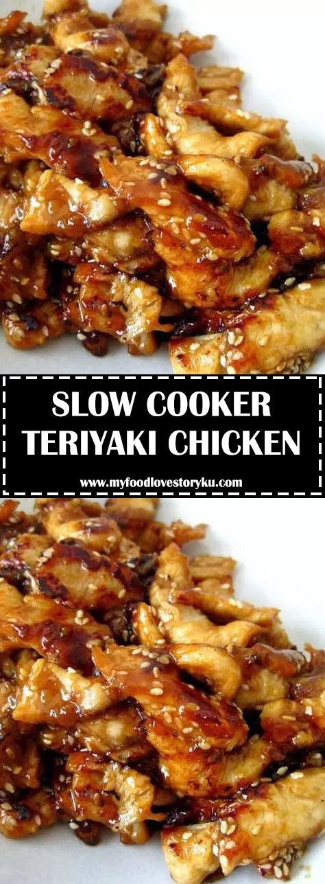 Serve this Slow Cooker Teriyaki Chicken over rice, you don't want any of that …