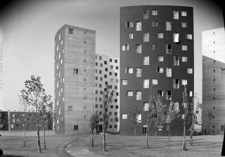 De wijk Wiesberg in het Franse Forbach in 1972 ontworpen door Émile Aillaud.
