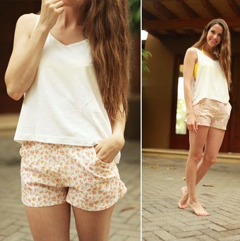 DIY everyday shorts with pockets tutorial