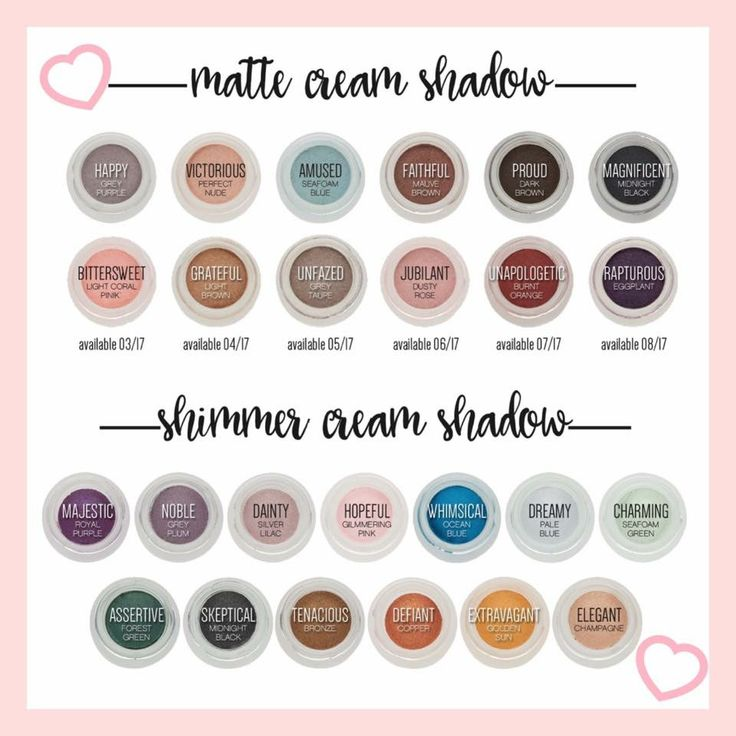 Younique's Splurge Cream Eyeshadow!Splurge is a luxurious, long-wearing cream shadow that does not crease! This chart shows all of our Matte & Shimmer colors including the new Matte shades that will soon be released & their release dates! #Younique #ClickImageToShop #Questions #EmailMe sarahandbrianyounique@gmail.com or comment below