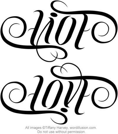 """Live"" & ""Love"" Ambigram by tiffanyharvey, via Flickr"