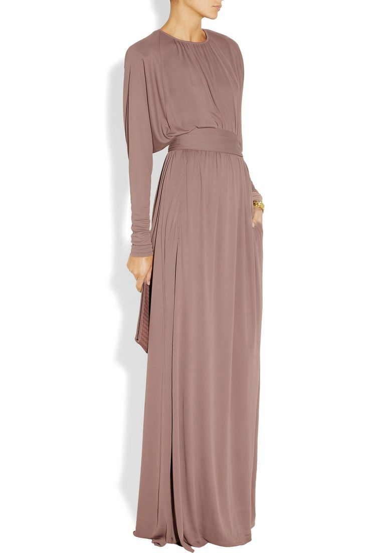 Bottega Veneta|Belted crepe-jersey gown|NET-A-PORTER.COM