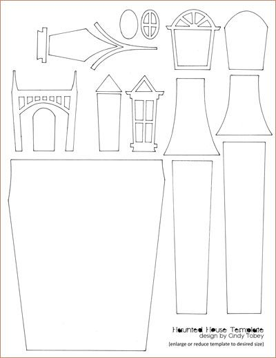 design your own haunted house. haunted house paper piecing template thinking of getting bigass pieces  cardboard and making this ginormous 136 best Halloween models images on Pinterest
