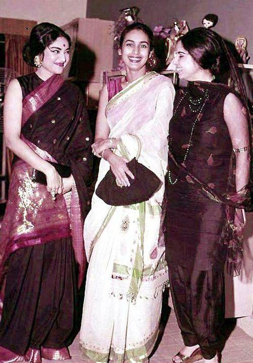 IT'S PG'LICIOUS — vaijayantimala nutan gitabali #vintage bollywood saree