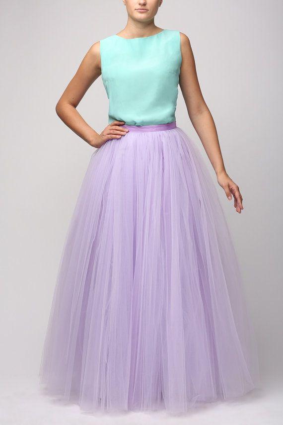 Lilac Tutu Skirt Handmade Maxi By Fanfaronada
