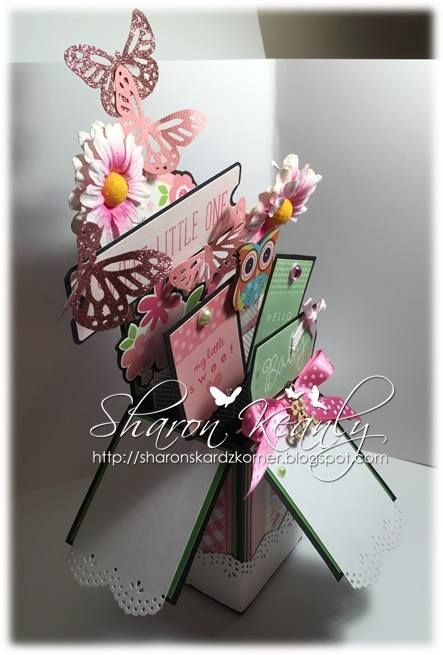 Side view of my card in a box creation - created by Sharon Keanly