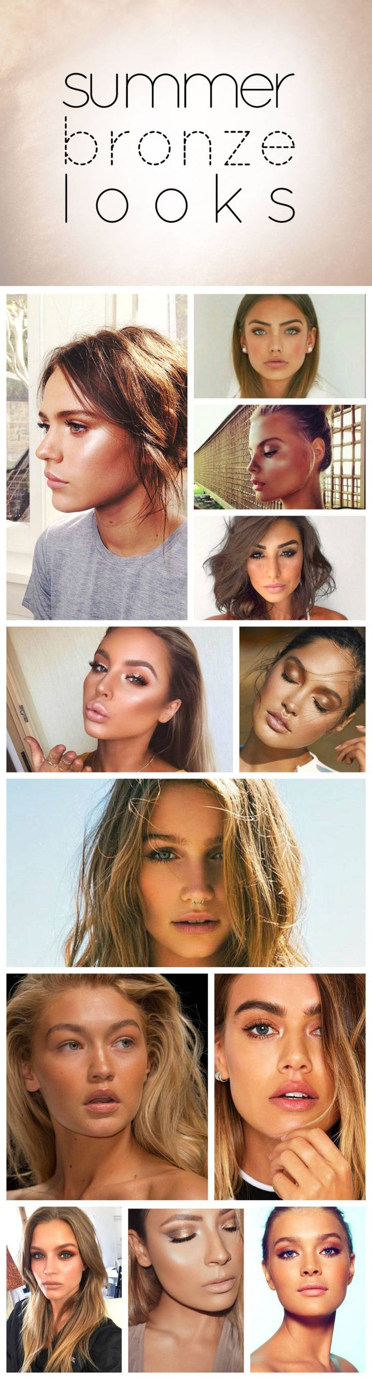 Summer bronze makeup looks