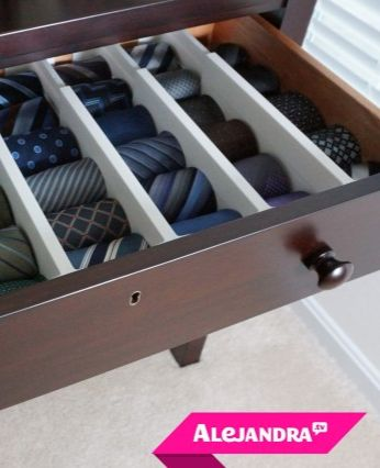 How to organize men's ties!                                                                                                                                                                                 More