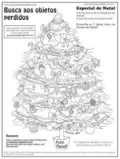 Encontre os sinos na árvore de Natal e dê lindas cores ao desenho - ImagiTerra Kids