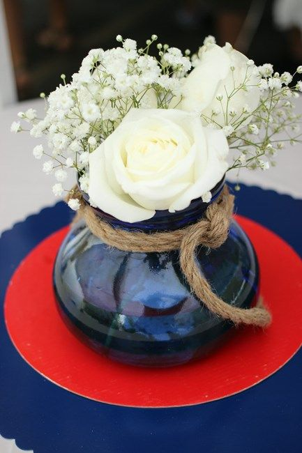 Nautical Bridal Shower Centerpieces