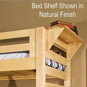 University Loft Graduate Series Twin XL Bed Natural Finish | FREE SHIPPING