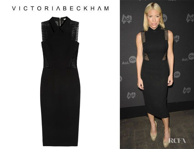 Fashion Trends: Tracy Anderson's Victoria Beckham Broderie Anglaise-Paneled Dress