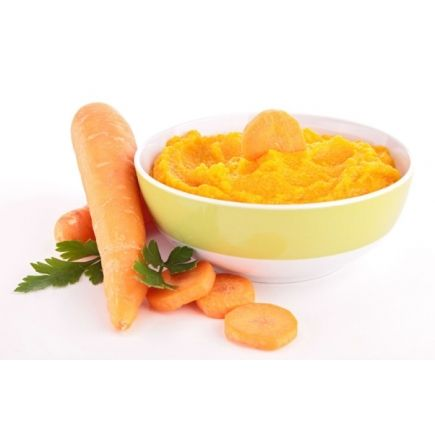 PURÉE CAROTTE POULET LINÉADIET En-cas hyperprotéinés (7 sachets de 27,5g)  Cette recette de purée onctueuse à l'authentique saveur de carotte et de poulet est parfaite pour votre régime hyperprotéiné ! Vous pouvez la dégustez accompagnée de nos nuggets hyperprotéinés, ou bien de notre steak de soja à la tomate.  Un véritable repas plaisir qui vous fera immédiatement retomber en enfance !