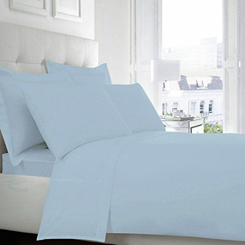 SASA CRAZE Drap Housse polycoton de bonne qualite et pas cher (180_x_200_cm, Bleu Ciel): Price:14 Drap-housse. 50% Polyester 50% Cotton,…