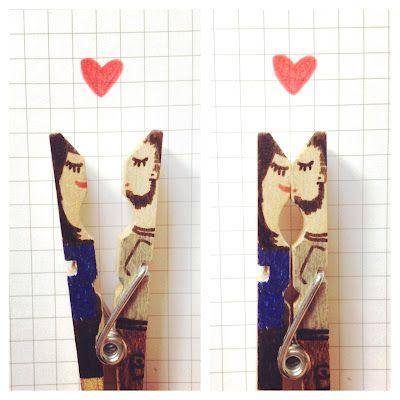 DIY Inspiration: Wäscheklammer Love // Clothespin love by aentschie