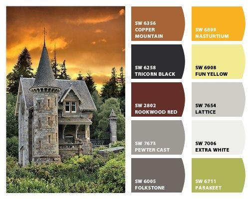 Scottish castle color palette inspiration for exterior for Home colour choice