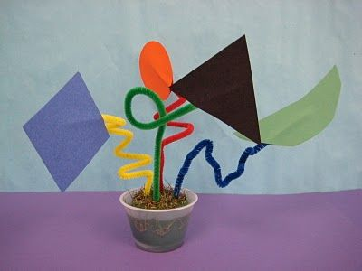 Calder-inspired sculpture. Pair with a book discussion of Sandy's Circus and The Calder Game.