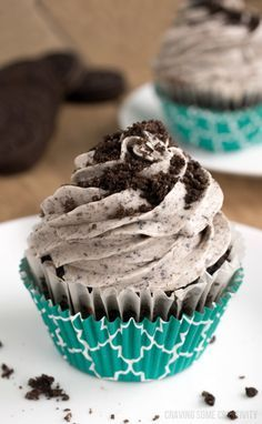 Cookies and Cream frosting with crushed Oreo cookies is divine! Cream Cheese frosting recipe for cupcakes and cakes that is effortless and can easily be adjusted to suit everyone.