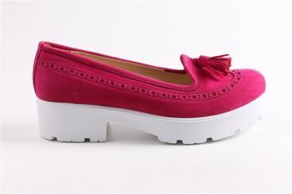 Doruk - Kadın Fuşya Yaz Nubuk Eva Taban Ayakkabı