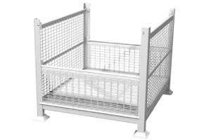 ITEM #156 – RIGID, 2 GATE, WIRE MESH STEEL BIN SKU: R2GW-01. Category: New Bins / Baskets.  - Size: 40 1/2″ x 34 1/2″ x 32″ Overall Height - Load Capacity: 3200 lbs