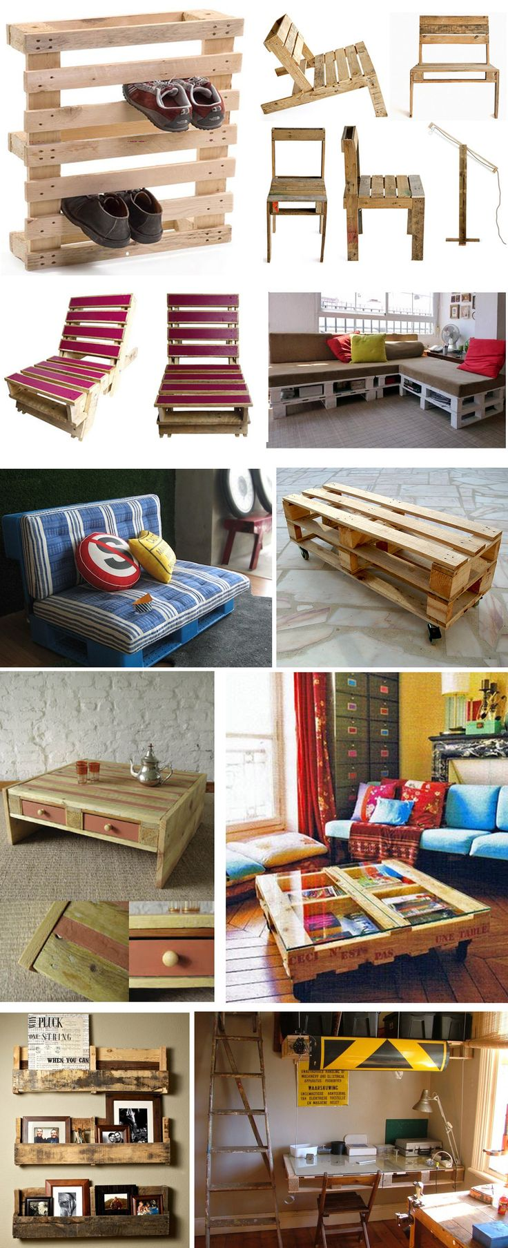 Amazing collection of pallet furniture.