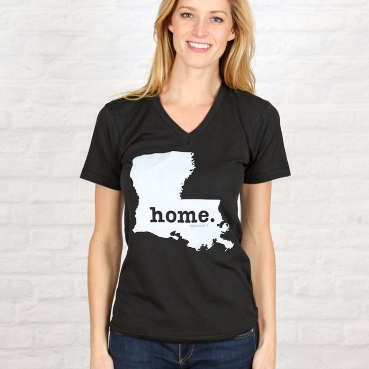 The Louisiana Home V-Neck is insanely soft, a great way to show off your state pride, and helps to raise money for multiple sclerosis research.The Home T products are 100% Made in the USA. We use a special screen printing technique to give the shirts a vintage look and feel.It
