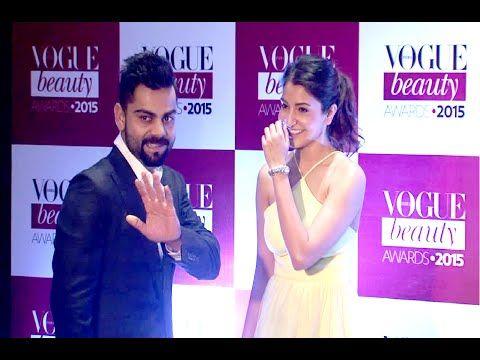 Virat Kohli and Anushka Sharma spotted together at Vogue Beauty Awards 2015. See the full video at : https://youtu.be/rYR8owlOe6Y #viratkohli #anushkasharma