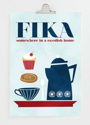 FIKA in Sweden 30x40 cm