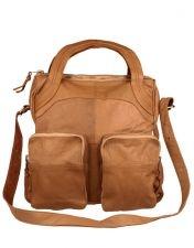 Friis & Company Treasure Saddle Leather Bag Camel - perfect travel handbag