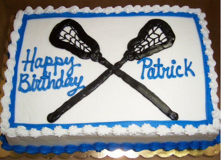lacrosse cake | Pin Lacrosse Birthday Cake — Cakes Cake on Pinterest