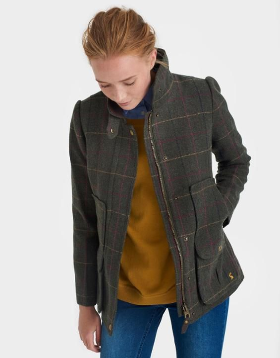 Tweed Heather Check Fieldcoat | Joules US