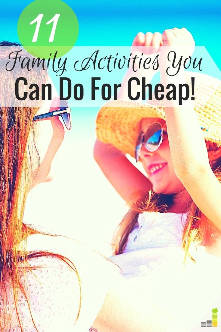 Frugal family fun activities