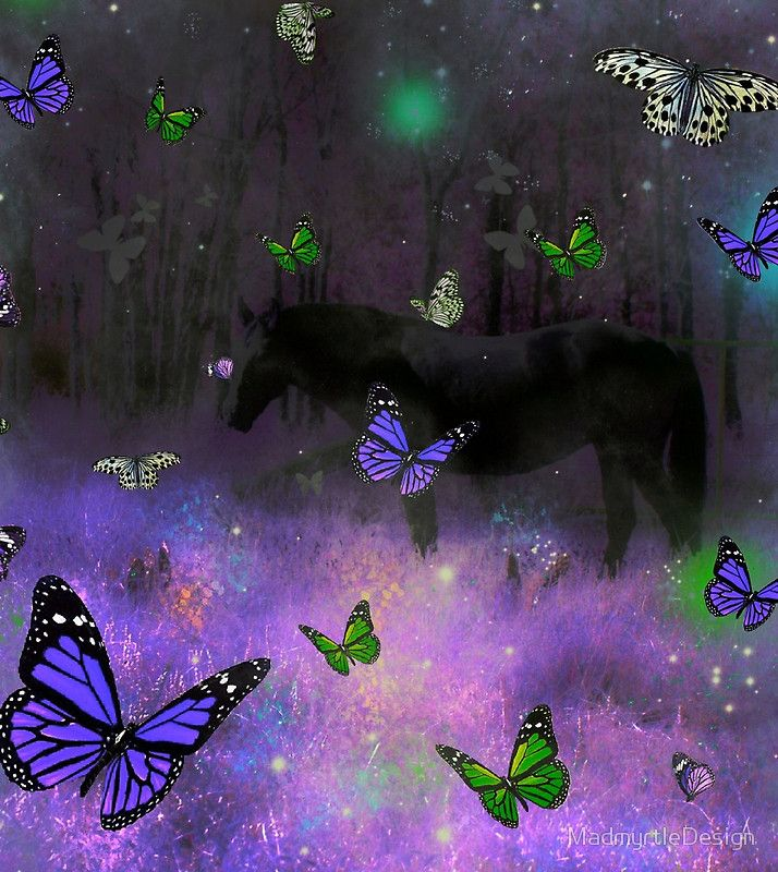 magical horse realm purple