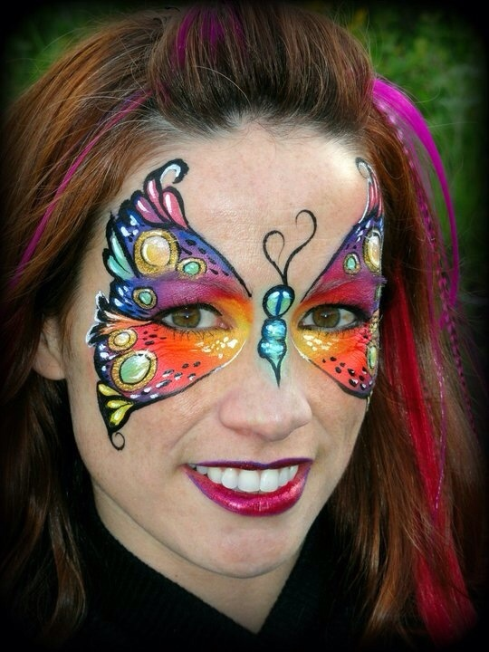 Butterfly face paintingFacepaint Butterflies, Butterflies Design, Makeup Stash, Painting Butterflies, Face Painting, Butterflies Face