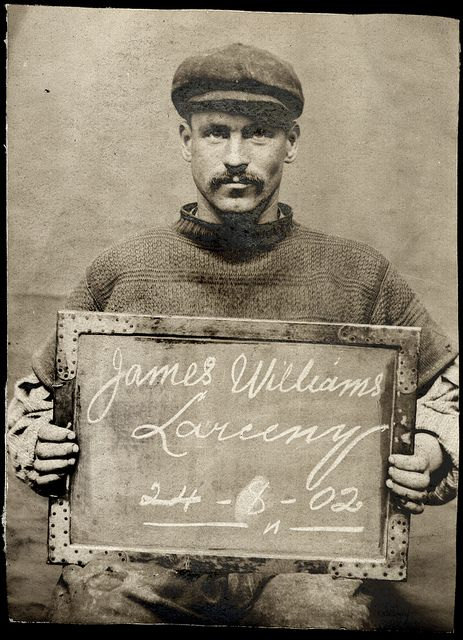 James Williams, Mugshot for crime of larceny, Aug. 24, 1902, Photo by Tyne & Wear Archives & Museums, via Flickr