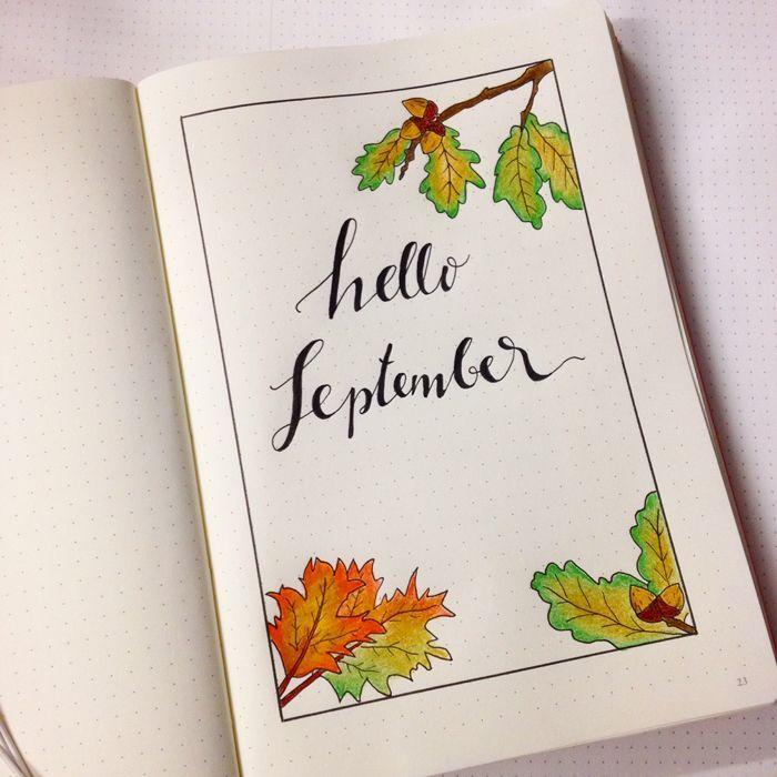 My september set up in my bullet journal going back to for Koch 6 backjournal