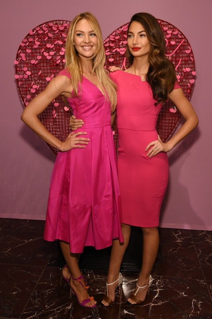 Candice Swanepoel And Lily Aldridge At 2015 Victoriau0027s Secret Valentineu0027s  Day Event In Victoriau0027s Secret Herald